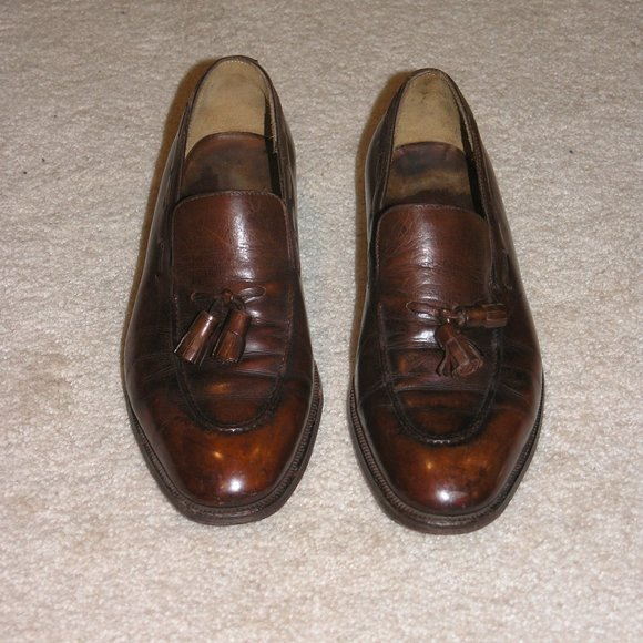 Hermes Other - Hermes John Lobb Brown Leather Kiltie Loafers SZ 8